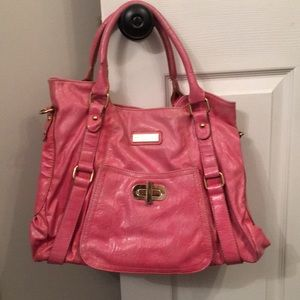 Melie Bianco Pink Leather Tote